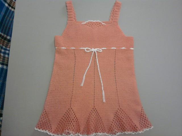 Красивая туника для девочки, связанная крючком, схемы вязания крючком.
